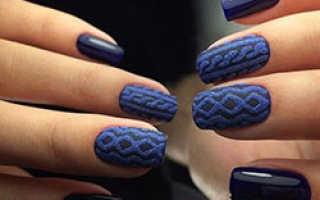 Вязаный маникюр: 50 фото, как сделать вязаный дизайн ногтей «Свитер»