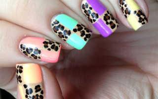 Леопардовый маникюр: 100 фото, как сделать леопардовый маникюр