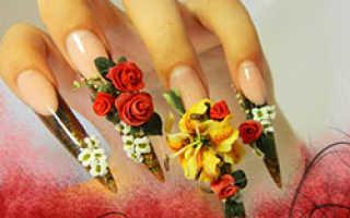 Лепка на ногтях фото — гелевая и акриловая лепка на ногтях