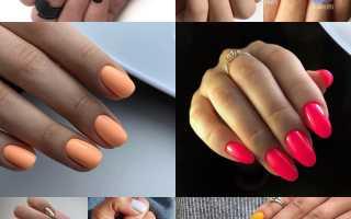 Трендовый однотонный маникюр весна 2019 на короткие ногти