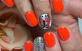 Маникюр с бабочками: 50 фото, лучший дизайн ногтей с бабочками