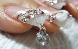 Пирсинг ногтей: 25 фото украшения ногтей с помощью пирсинга