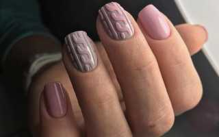 Модный цвет шеллака на короткие ногти 2019