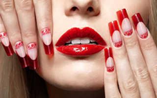 Красный френч: 50 фото как сделать красный французский маникюр