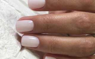 Маникюр на короткие ногти квадратной формы