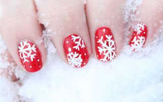 Новогодний дизайн ногтей: 50 фото, новогодние рисунки на ногтях