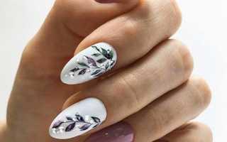 Дизайн ногтей миндалевидной формы: новинки 2019