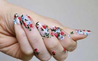 Маникюр с цветами — идеи и примеры