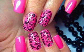 Розовый маникюр: 50 фото красивого дизайна ногтей в розовых тонах