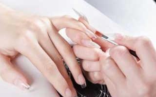 Коррекция формы для всех типов наращенных ногтей