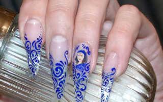 Вензель на ногтях: как нарисовать вензель пошагово для начинающих, видео уроки