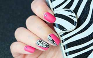 Зебра на ногтях: фото, как сделать маникюр зебра