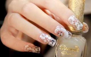 Маникюр с кружевами: кружева на ногтях