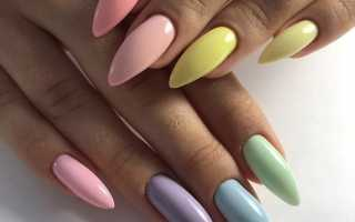 Летний яркий маникюр 2019 на миндалевидных ногтях — оригинальные дизайнерские решения