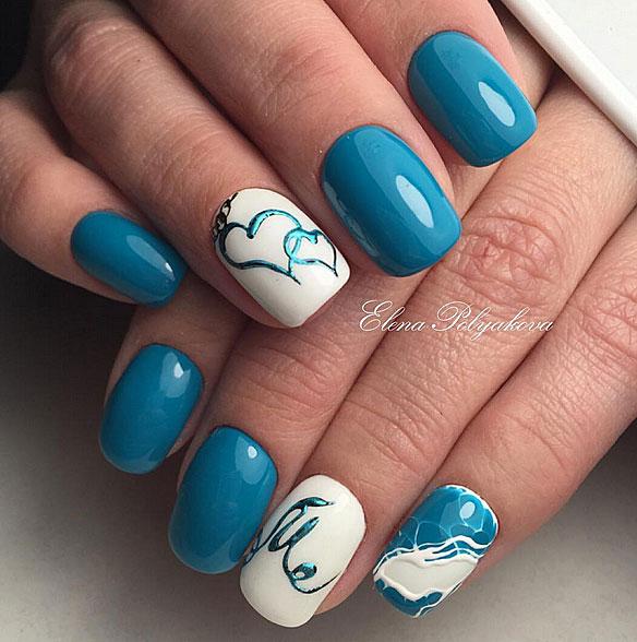 Маникюр с сердечками - романтические символы на ногтях