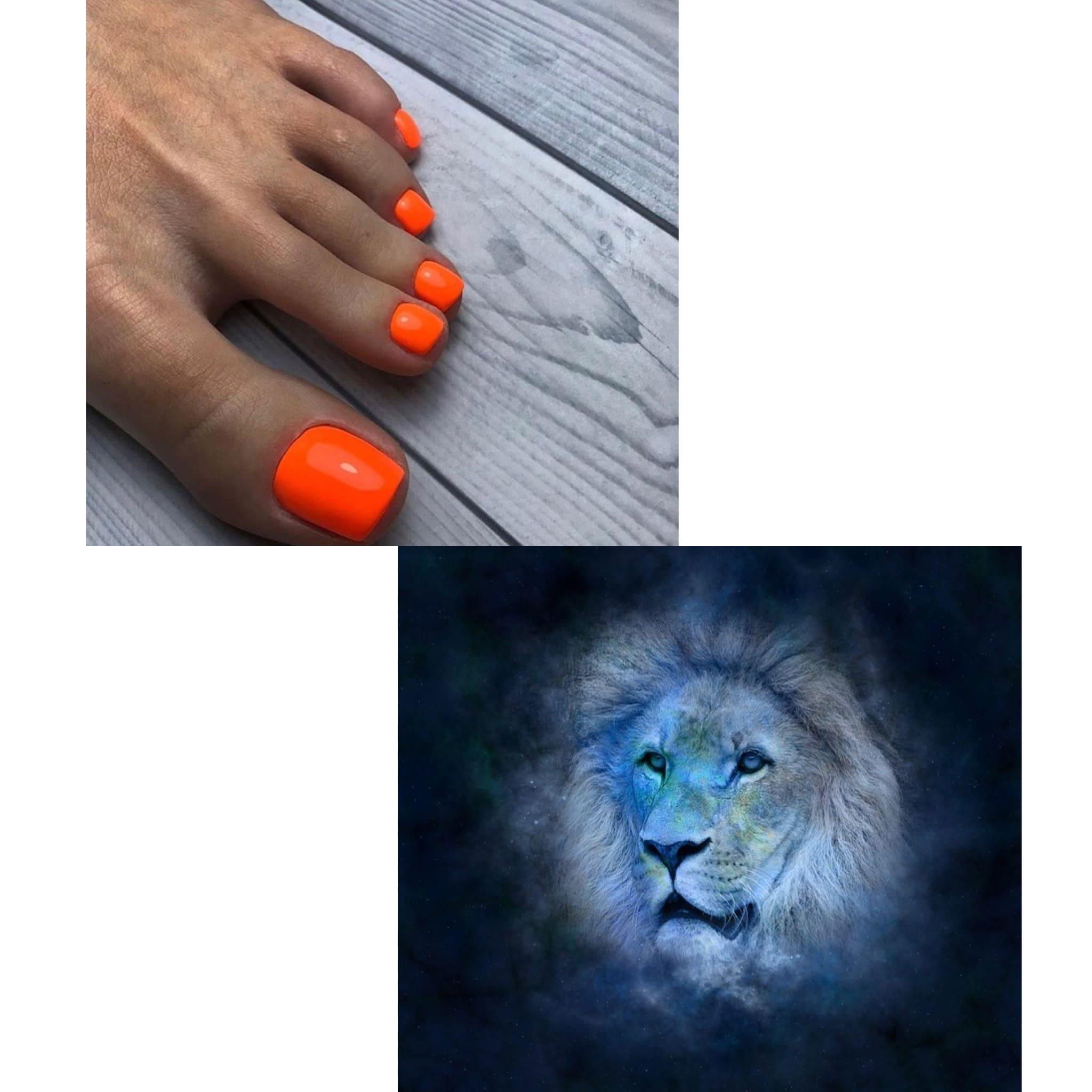 педикюр по гороскопу для льва