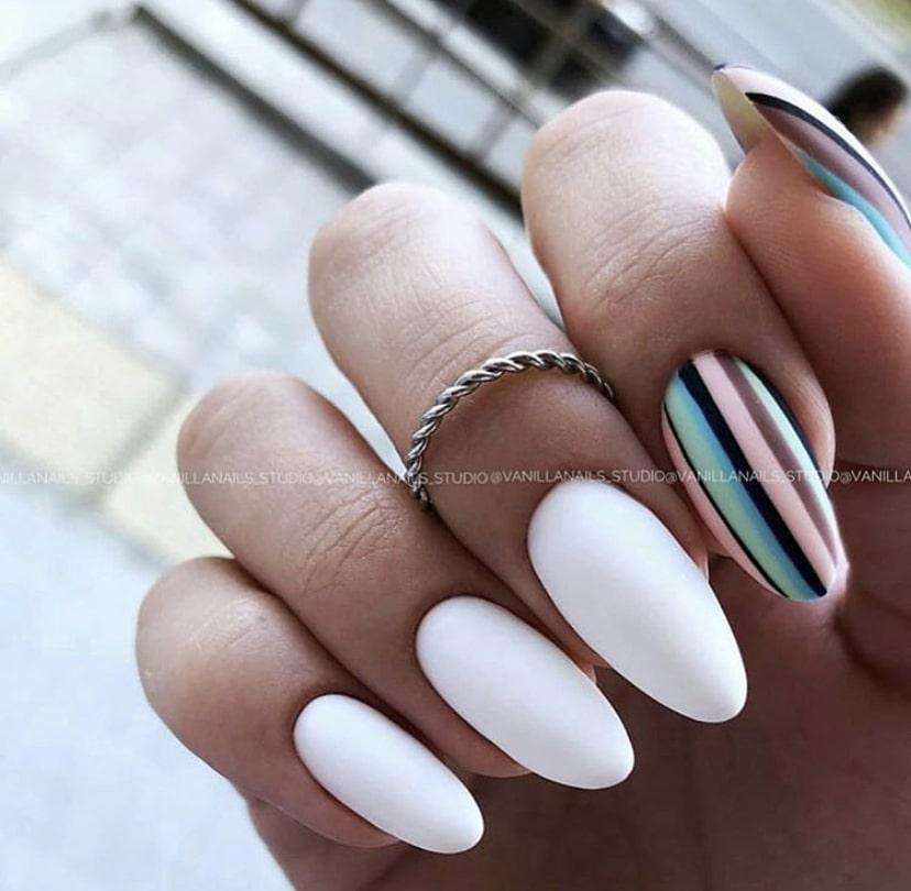 «Разметка» на ногте в качестве ориентира