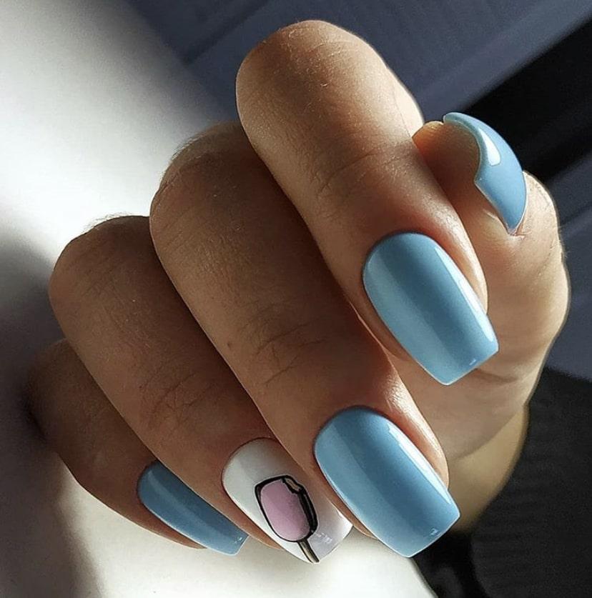 Универсальный дизайн пастельных ногтей