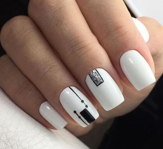 Абстрактная геометрия на ногтях