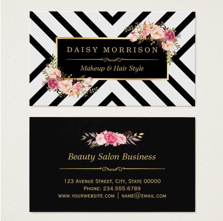 Образец визитки салона Daisy Morrison