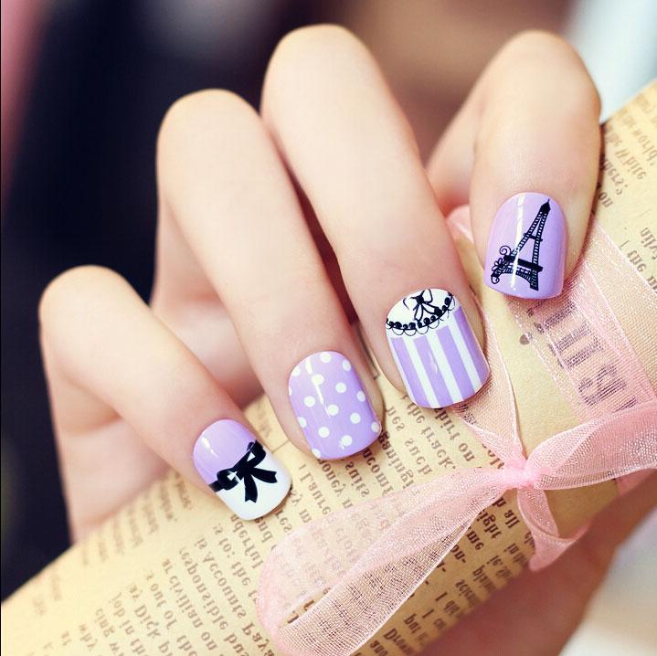 Рисунки на коротких ногтях
