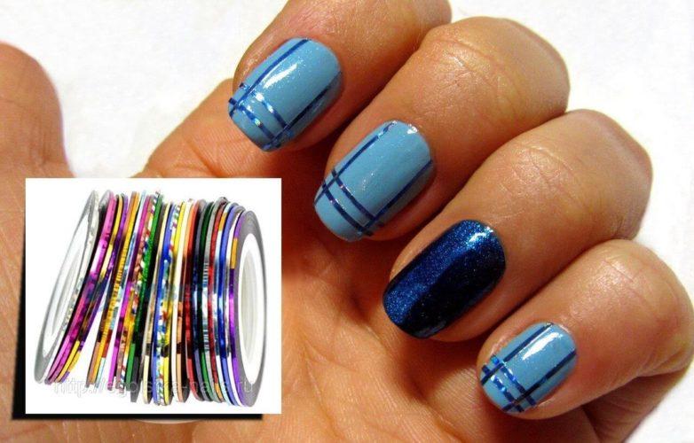 Линии и геометрия на ногтях