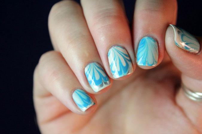 двухцветный цвет в дизайне ногтей фото