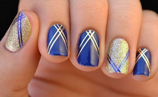 два цвета - синий и золотой