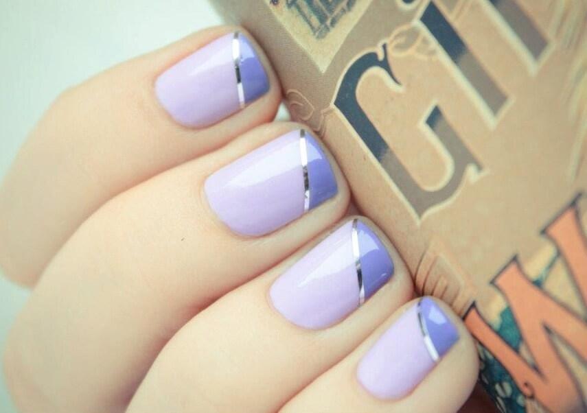 Свадебный маникюр в фиолетовых тонах