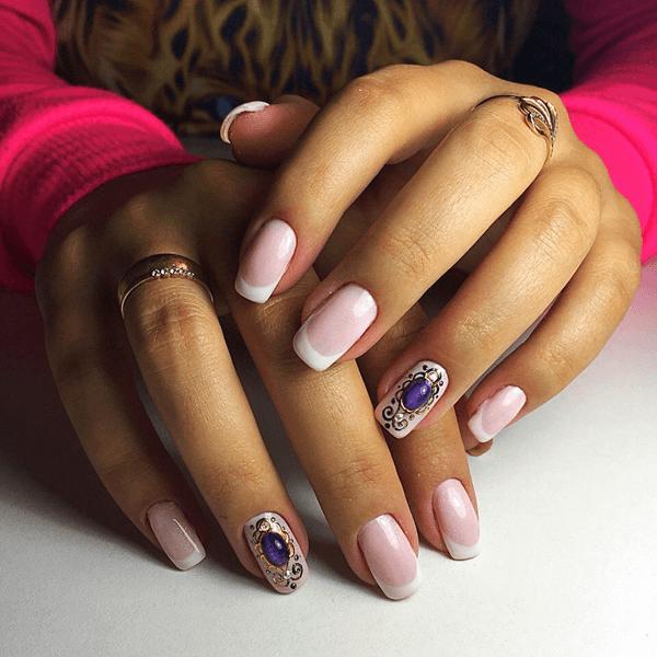 Фиолетовый оттенок жидких камней