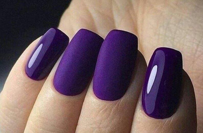 Фиолетовый однотонный пудрой
