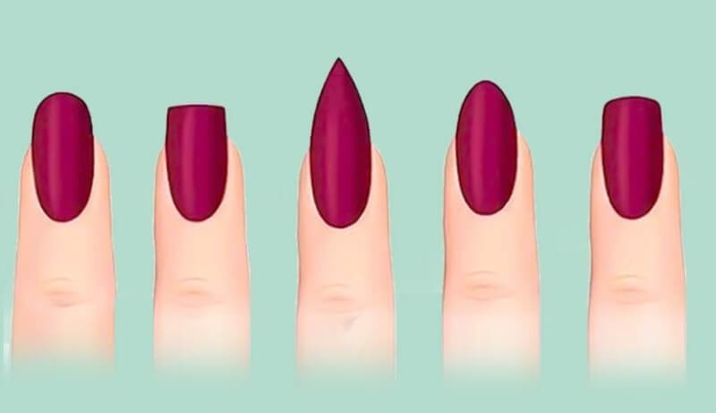 Существующие формы ногтей