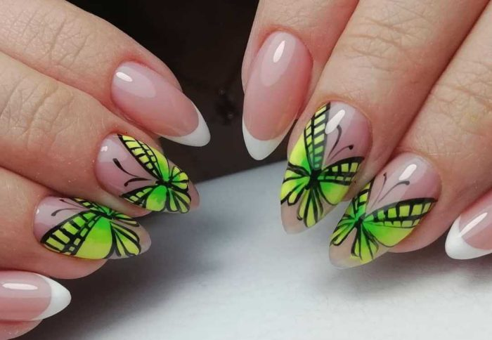 Френч с бабочками