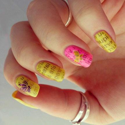 Газета дизайн ногтей фото