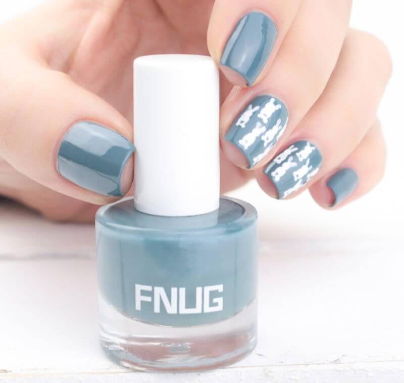 Пыльно-голубой лак Fnug