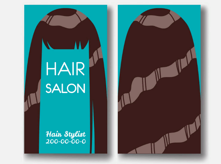 Образец визитки салона