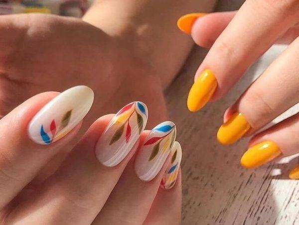 Идея маникюра на длинные ногти