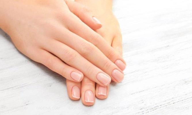 Вид здоровых ногтей и кожи