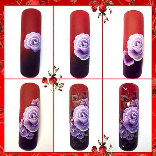 Роспись ногтей в китайском стиле пошагово
