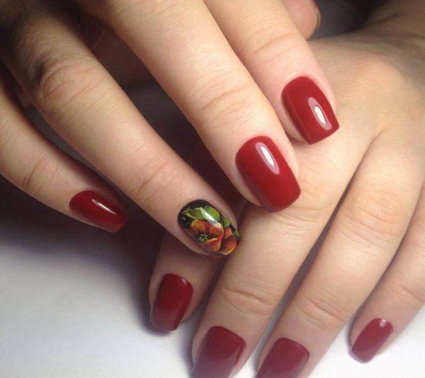 Классическая жостовская роспись ногтей