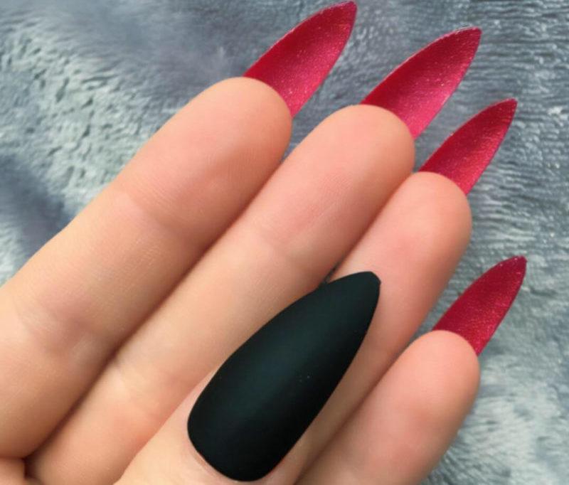 Классический лабутен на длинные ногти