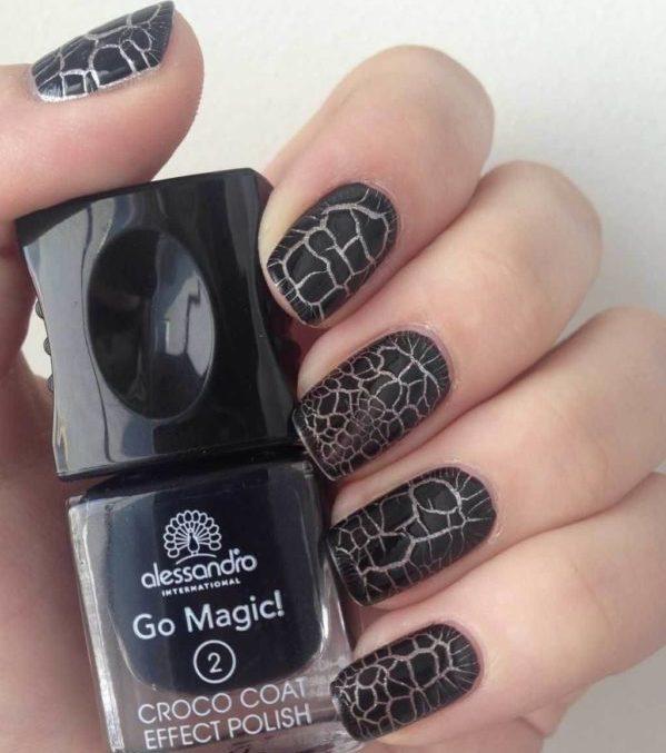 Кракелюр на короткие ногти