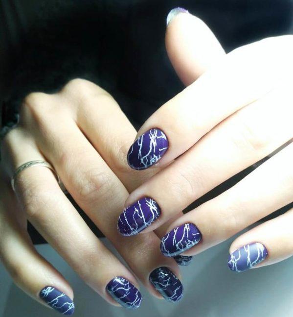 Темно-фиолетовый кракелюр