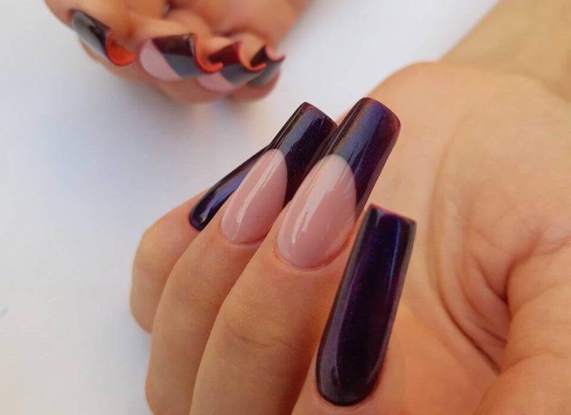 Лабутен-маникюр и френч на длинные ногти