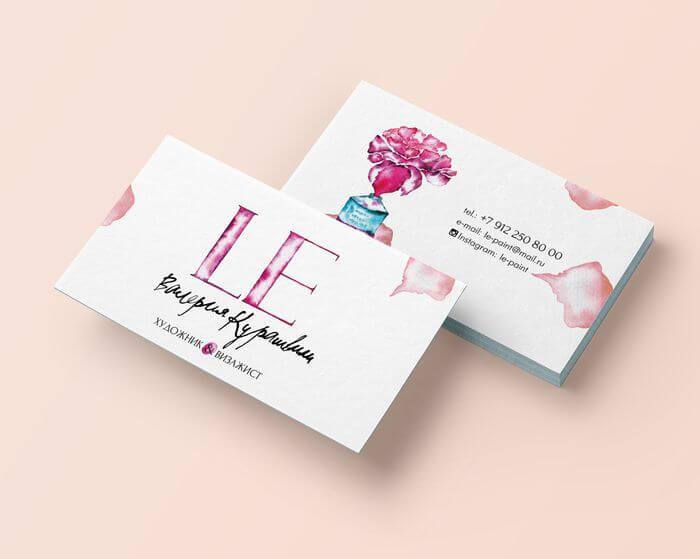 Образец визитки салона LE