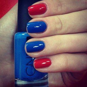 Красный с синим