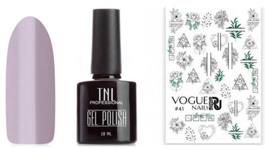 Слайдер №41 от Vogue Nails и гель-лак №38 от TNL