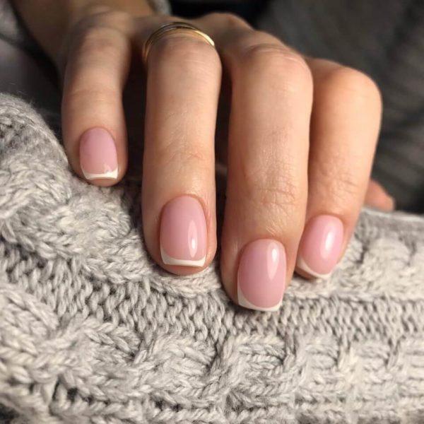 Микрофренч на короткие ногти