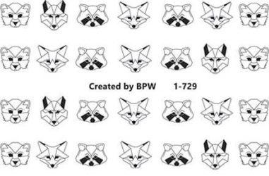 Слайдер-дизайн с графическими мордами животных от BPW.Style с номером №1-729