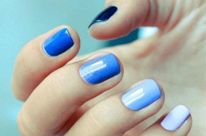 Монохром синий